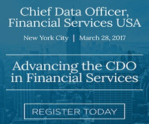 Chief Data Officer, Financial Services/Insurance, NYC, March 28-29 – Offer